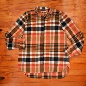 Madewell Tan Flannel Shirt